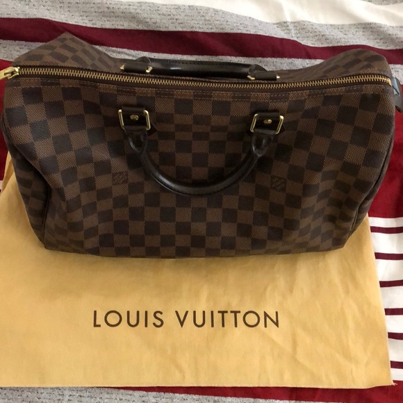 Louis Vuitton Handbags - Louis Vuitton Speedy Damier Ebene 30 Brown